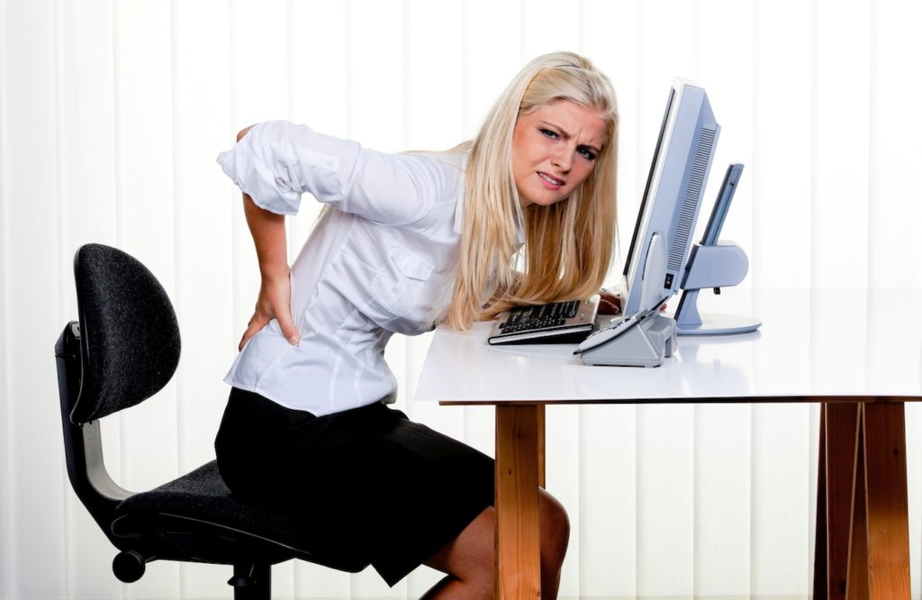 Women with back spasms