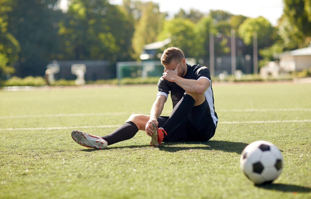 Soccer Player with Foot Pain Injury