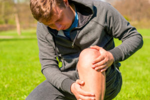Male with Knee Pain