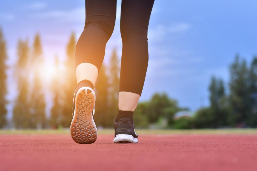 Runner women are running exercise sporty  morning sunlight