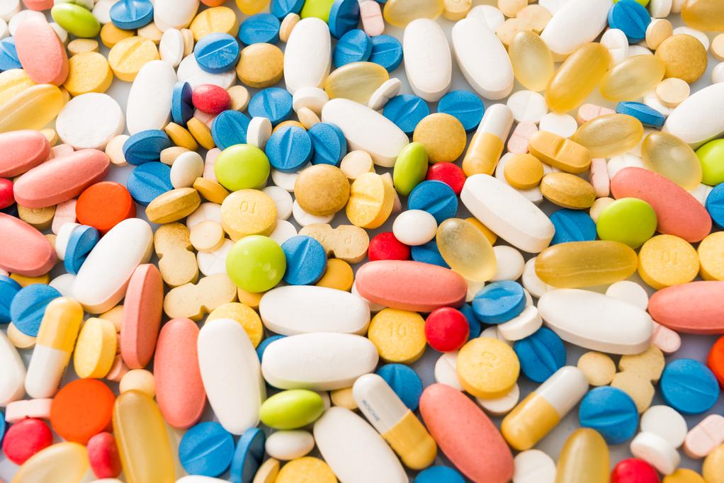 Medicine pills or capsules. pharmaceutical background